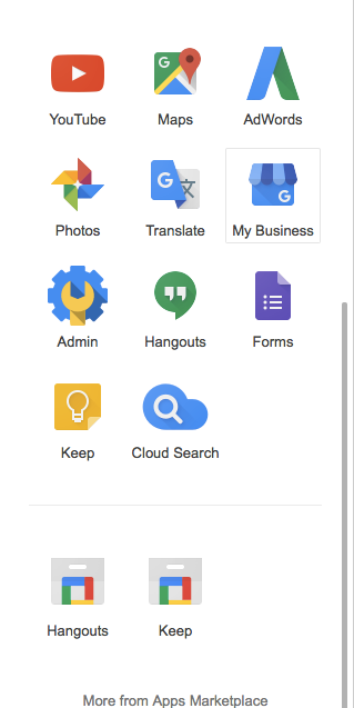 More Google Menu