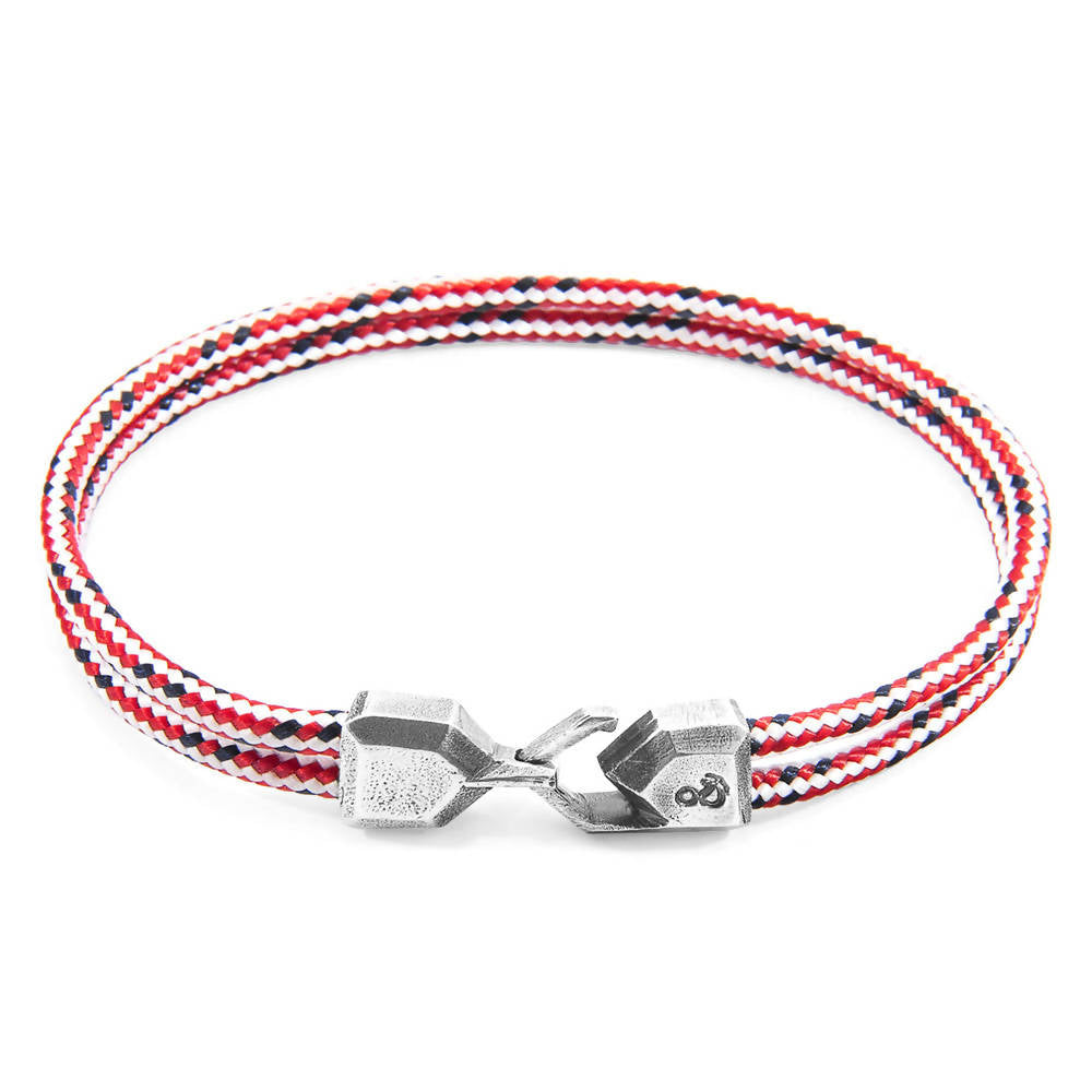 RED DASH CROMER SILVER AND ROPE BRACELET (END YOUTH HOMELESSNESS)