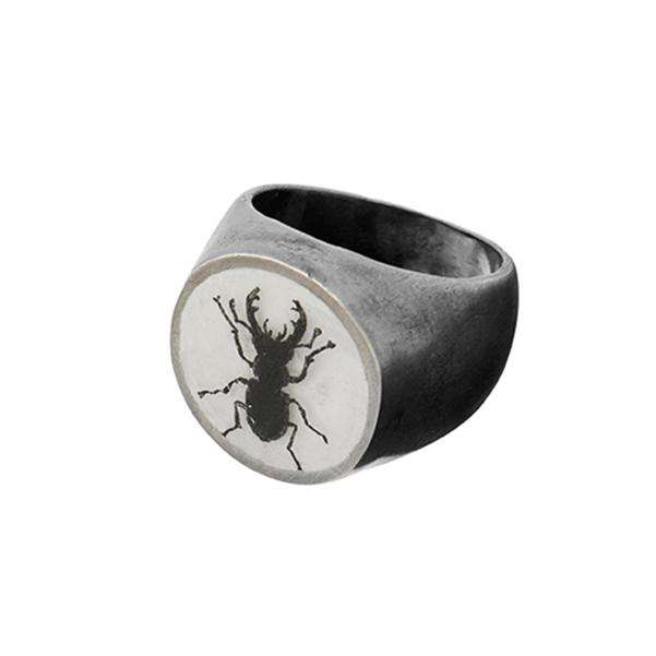 The Stag Beetle Signet Ring