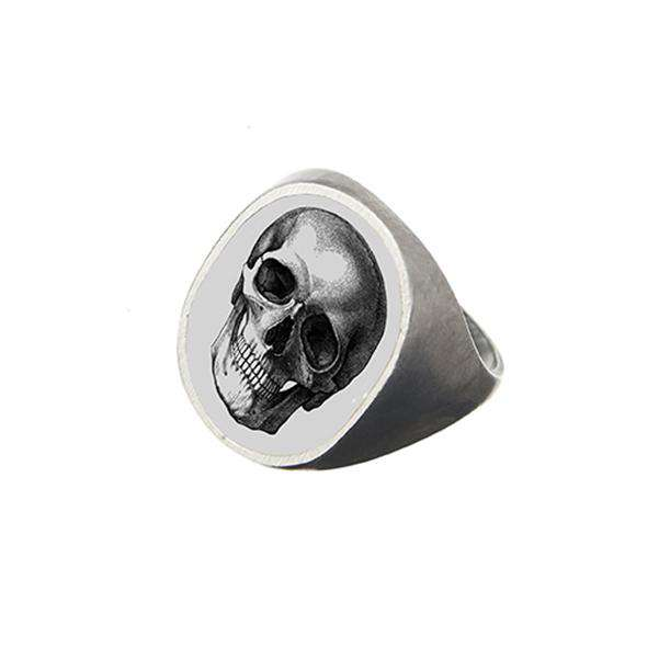 The Memento Mori Oval Signet Ring
