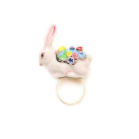 Porcelain Rabbit Ring/ Statement Ring