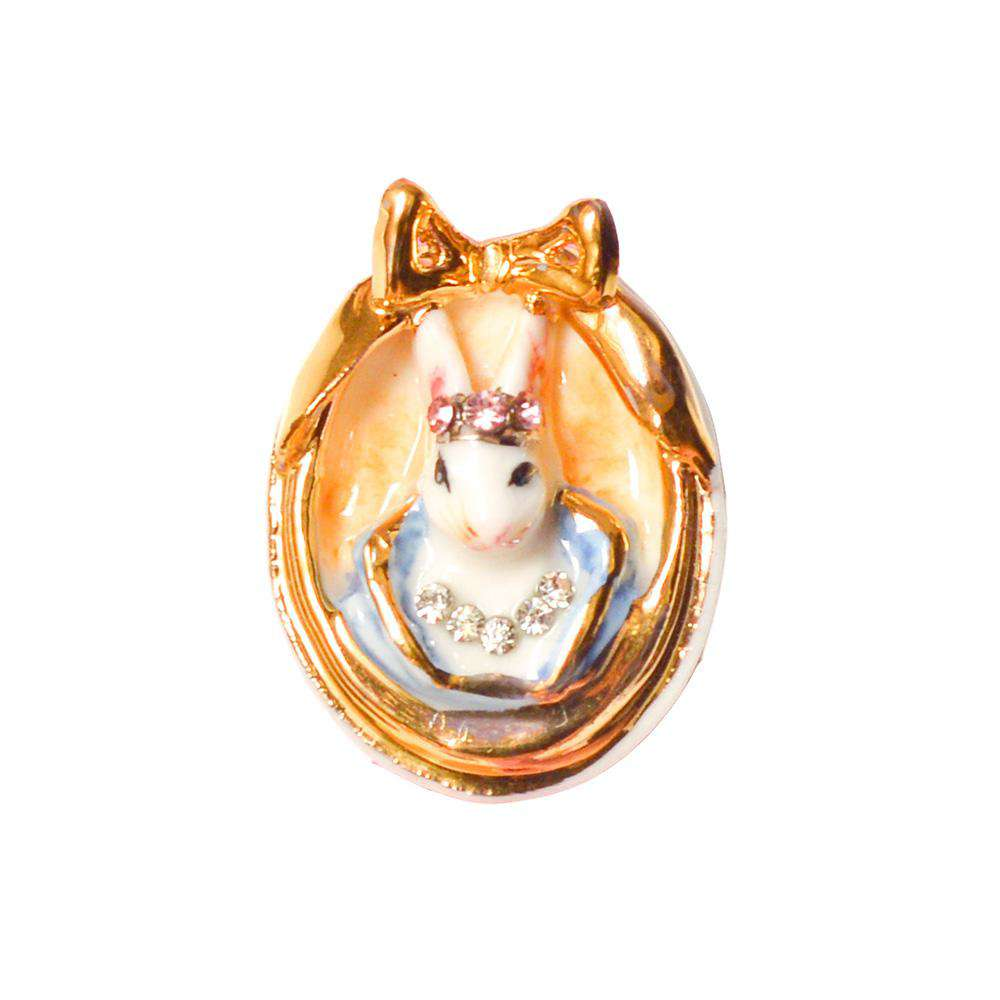 Small Porcelain Rabbit Cameo Necklace