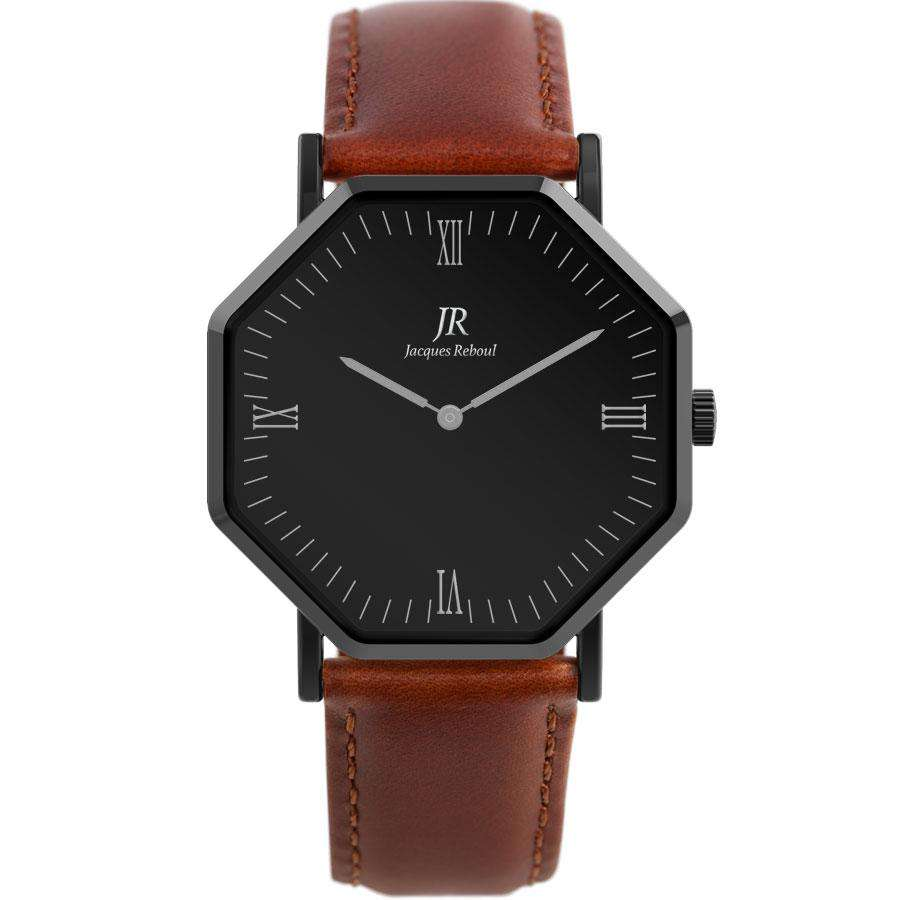 Nuit Noir Roman Black | St. Martin Men's 44mm Watch