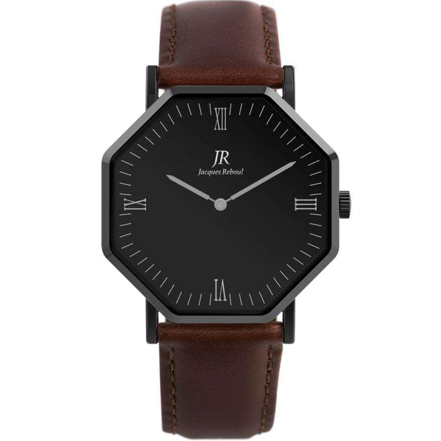 Nuit Noir Roman Black | St. Germain Men's 44mm Watch
