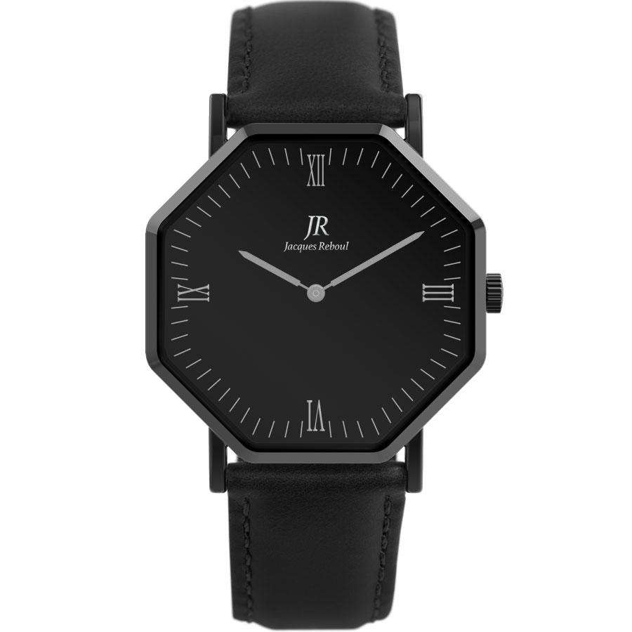 Nuit Noir Roman Black | St. Louis Men's 44mm Watch