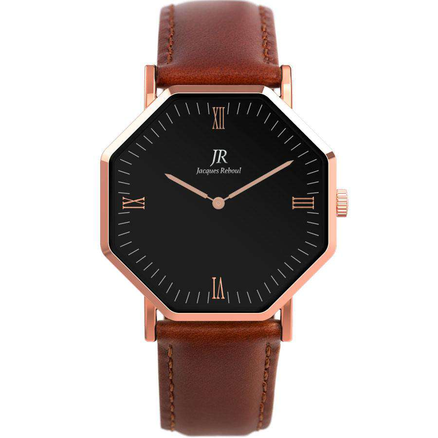 Lumiere Noir Roman Rose Black | St. Martin Men's 44mm Watch