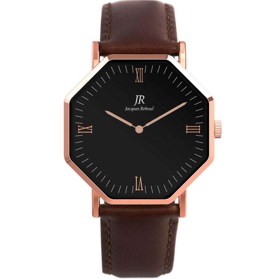 Lumiere Noir Roman Rose Black | St. Germain Men's 44mm Watch