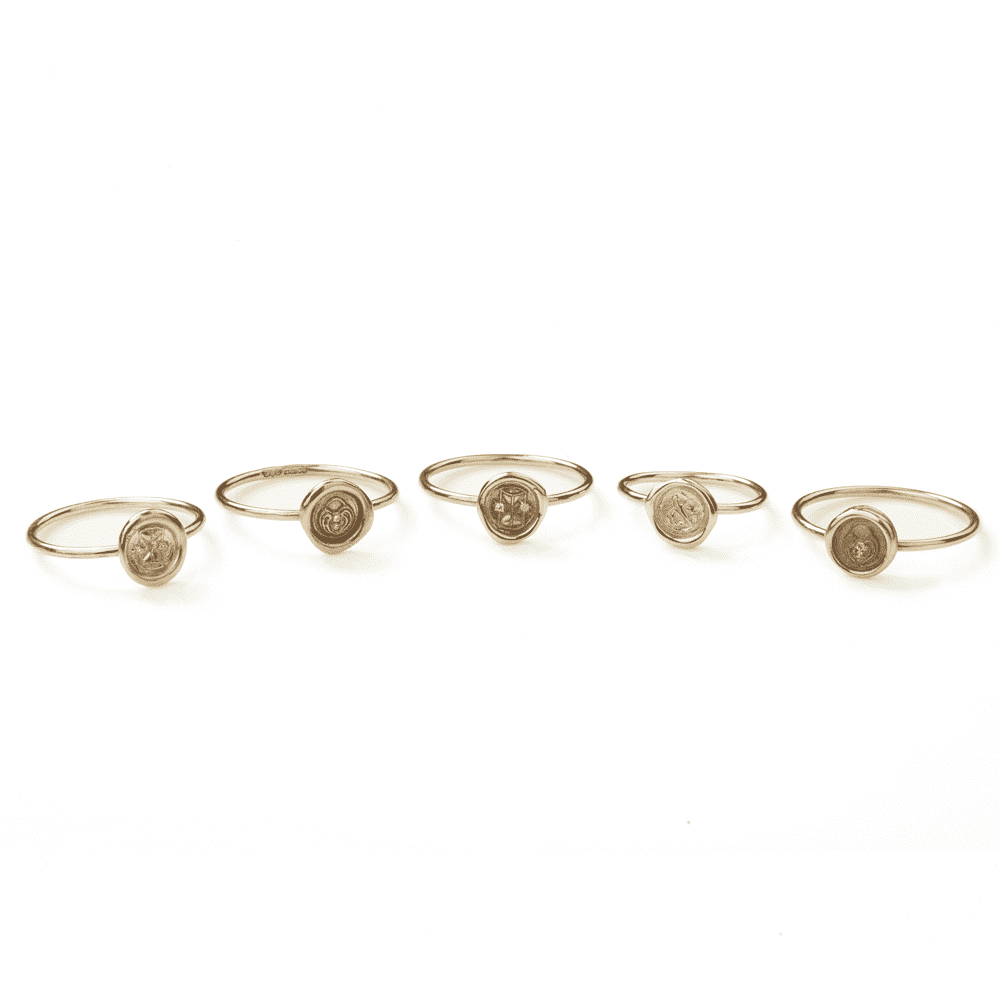 Personalised Stackable Rings - Numbers 1-10 with Diamonds