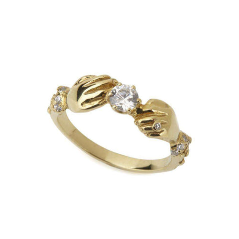 Yellow Gold and Diamond Fine Devotion Ring