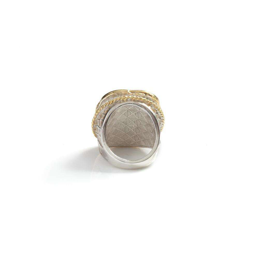 Moon Swoon Ring - set with Diamonds