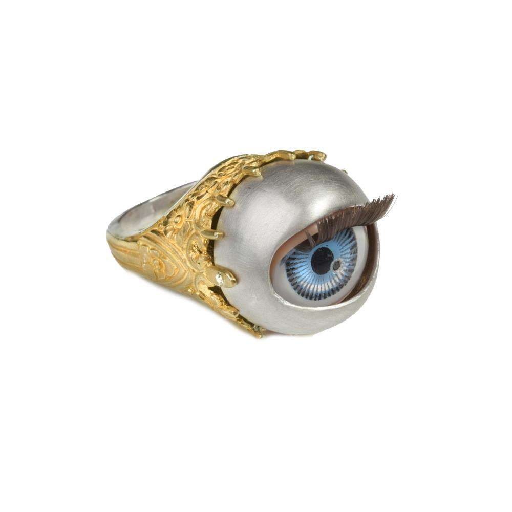 Peeping Tom: Winking Dolly Eye Ring