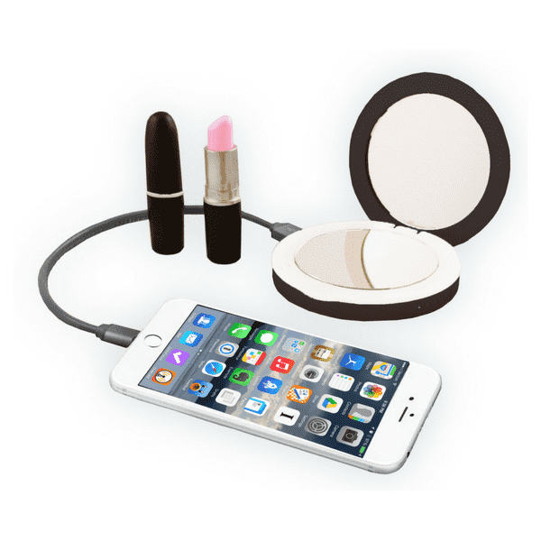 Beauty Bank Illuminating Compact/Portable Charger in Black