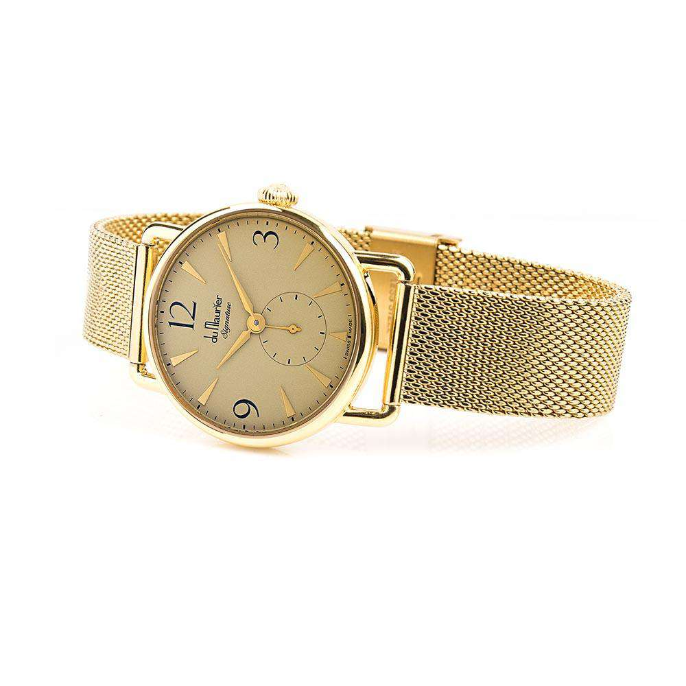 Daphne Signature GD with Slim Gold Mesh Bracelet