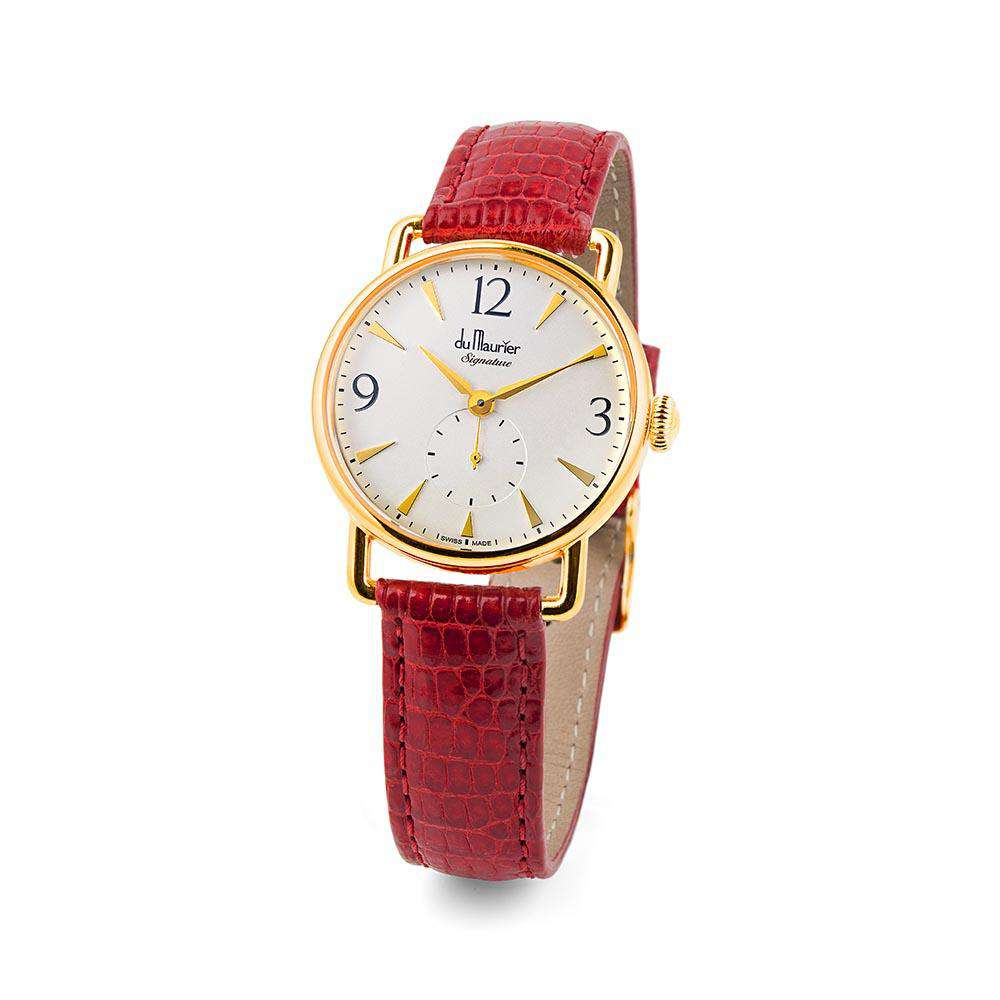 Daphne Signature Gold SD with Red Lizard Strap