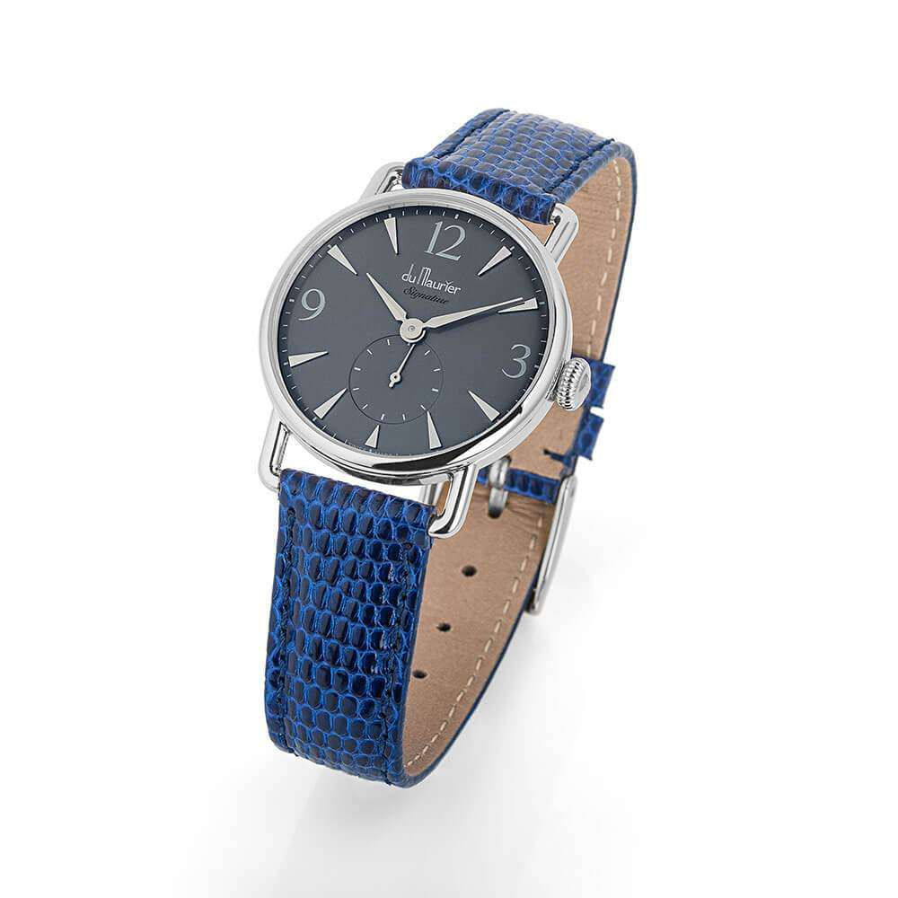 Daphne Signature Silver GD with Royal Blue Lizard Strap