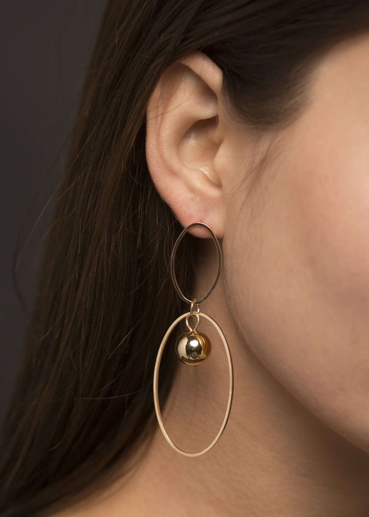 Manhattan Earrings - Double Hoop