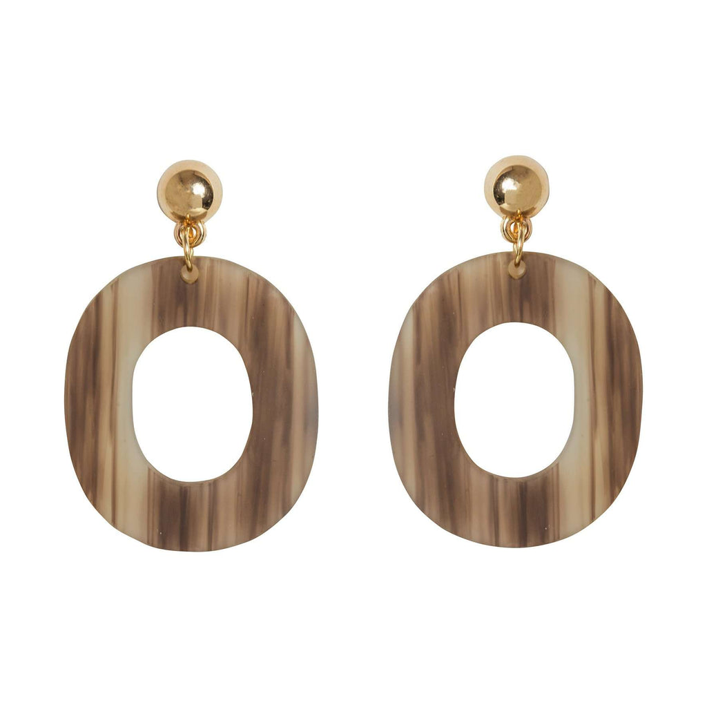 Sydney Earrings - Oval Hoops