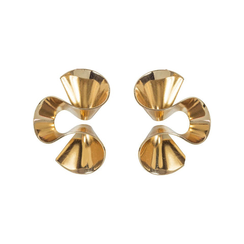Mini Circle Faceted Stud Earrings