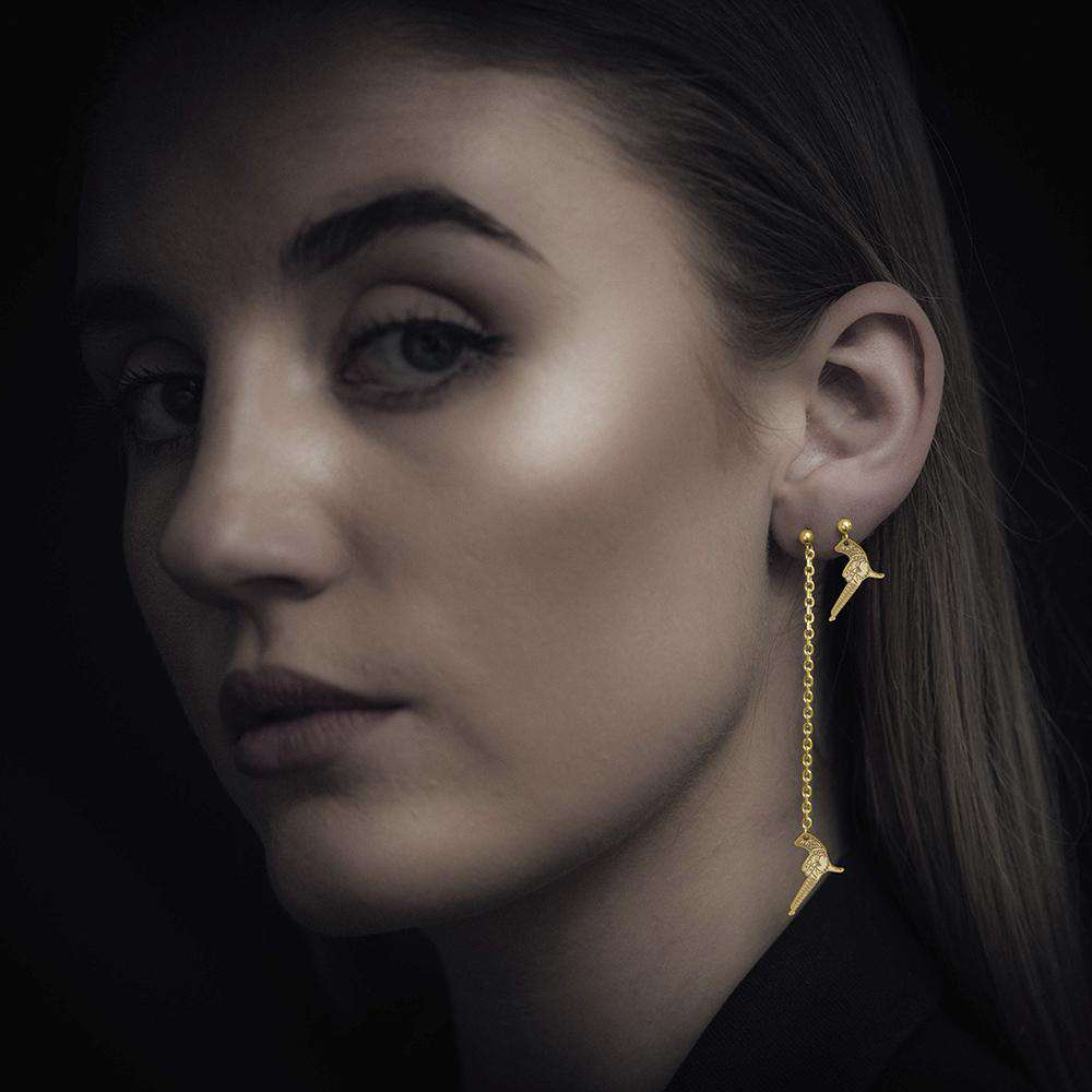 Hand Gun – Single Earring