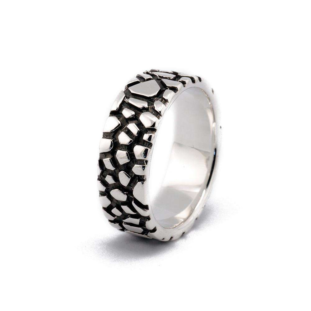 Wanderer Ring 8mm Oxidised