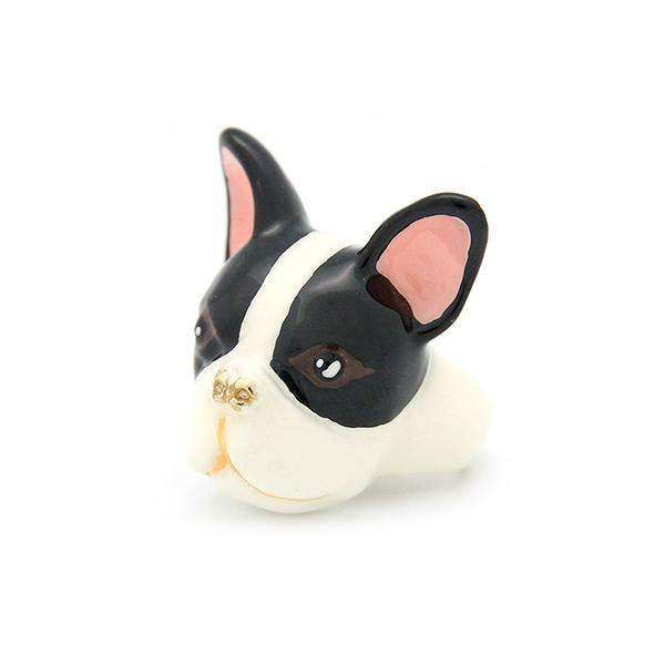 French Bulldog Ring Black and White
