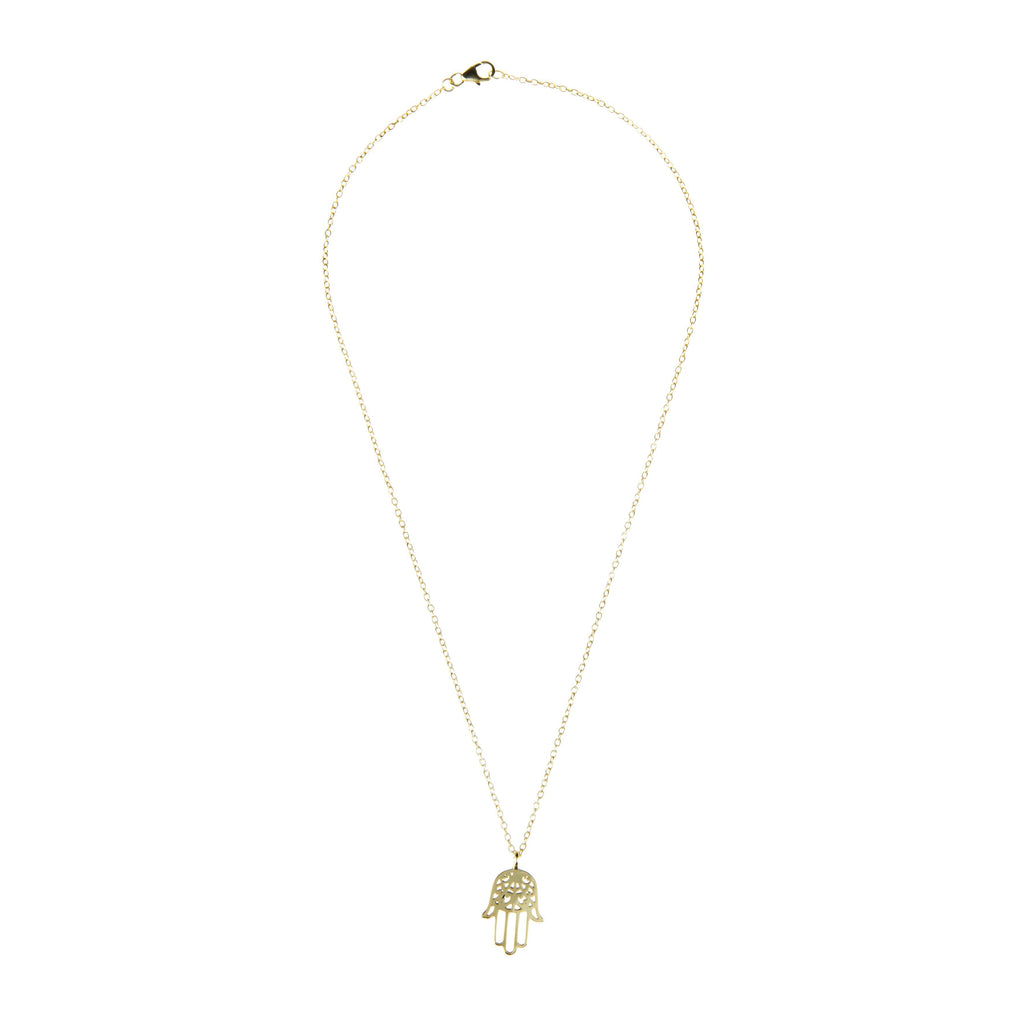 Cosmic Hamsa Necklace Gold