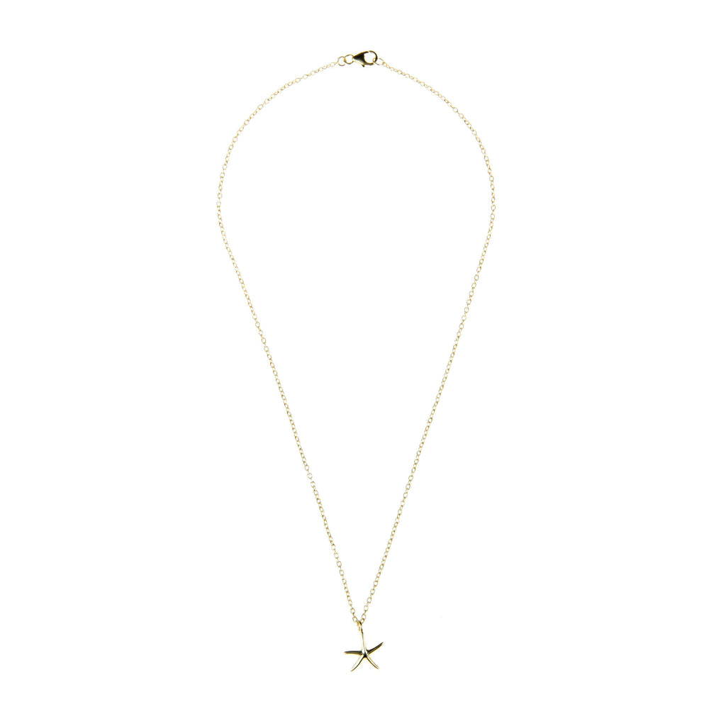 Petite Starfish necklace Gold