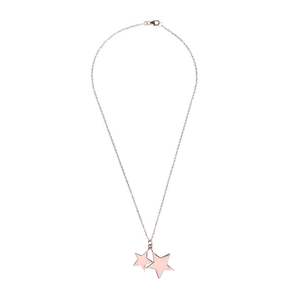 Double Star Necklace Rosegold