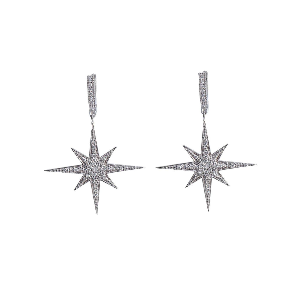 Compass Star Earring Silver