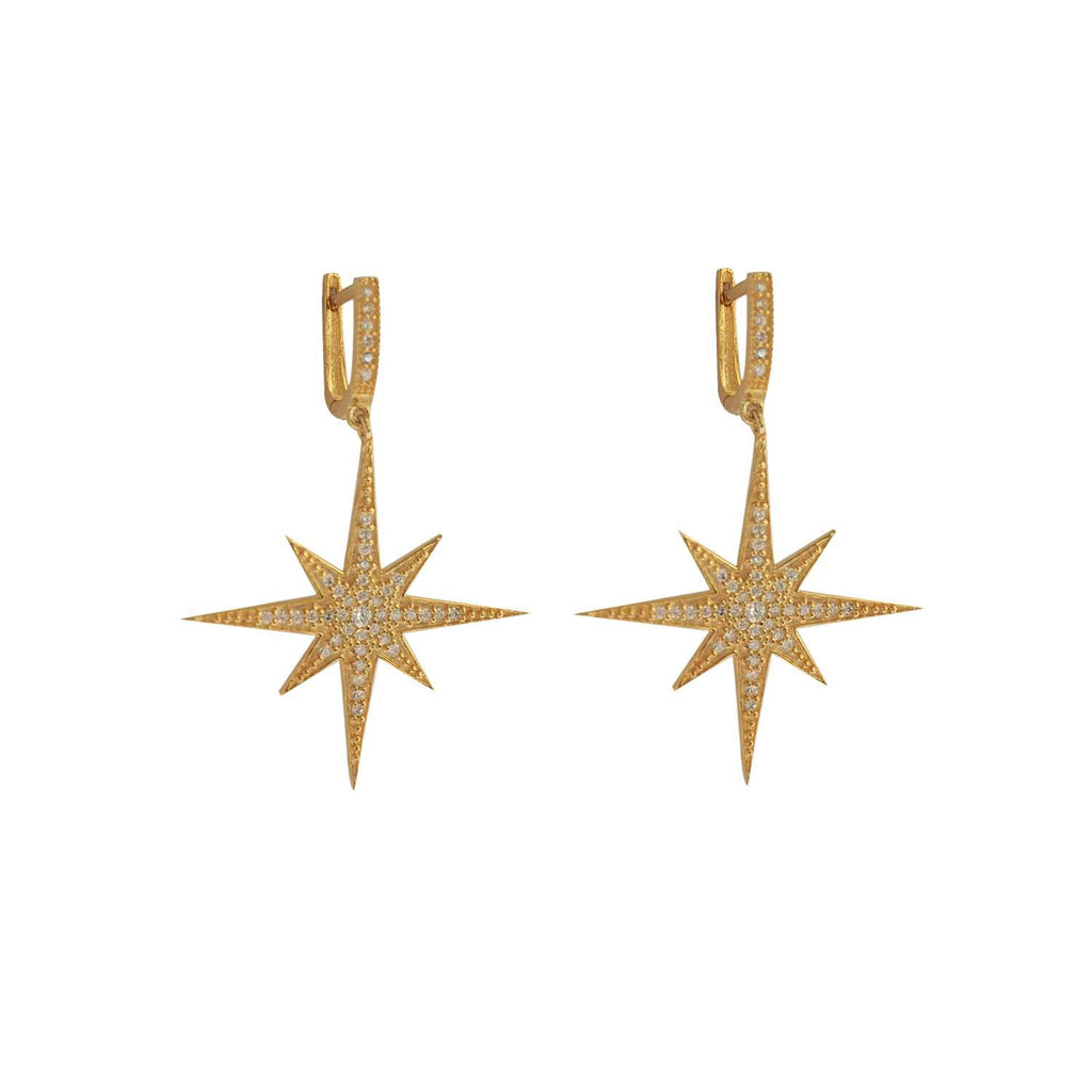 Compass Star Earring Gold