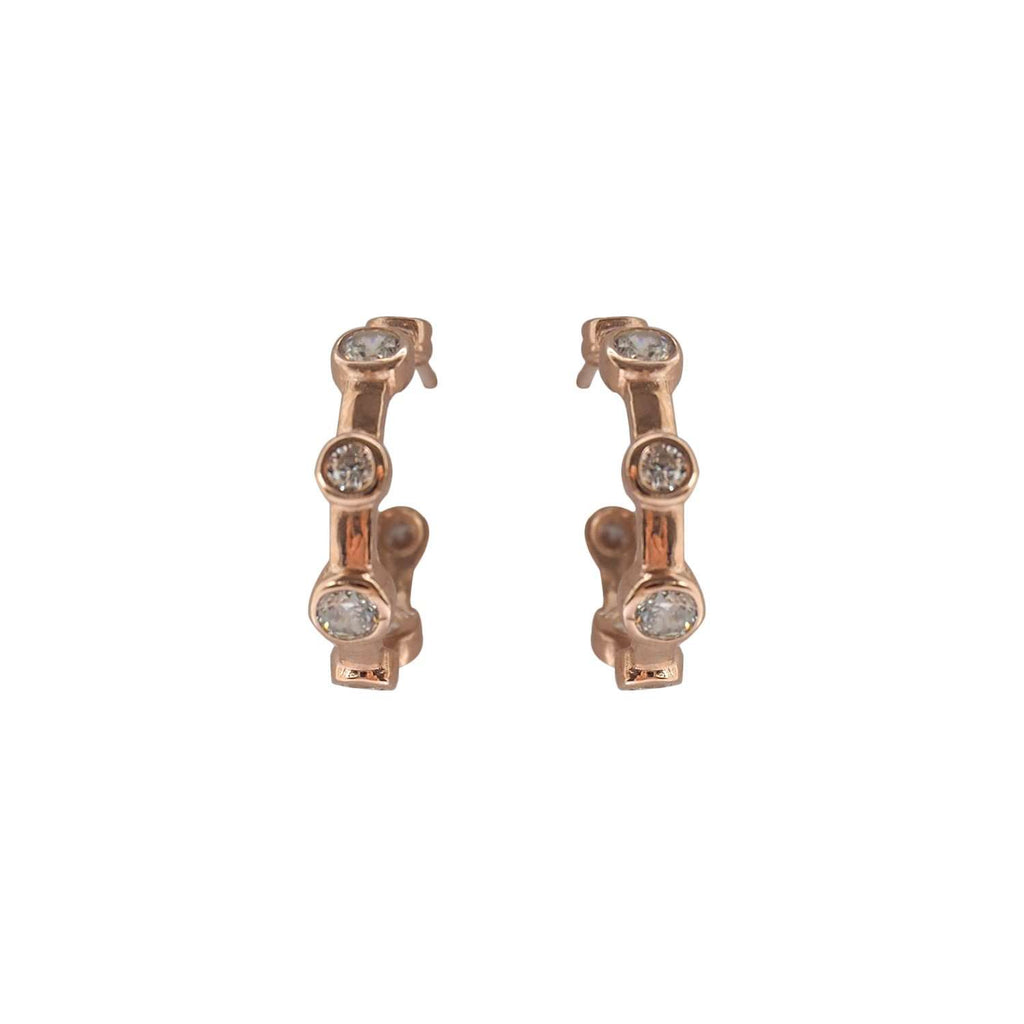 Orbit Hoop Earrings Rose Gold
