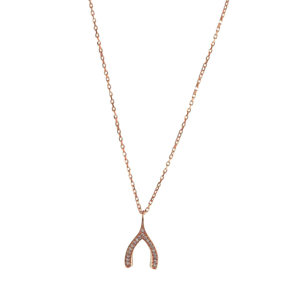 Make A Wish Necklace Rose Gold