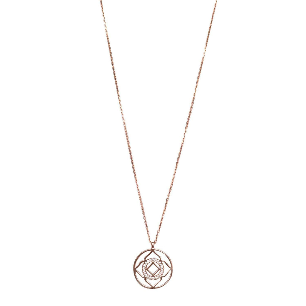 Demi Lotus Necklace Rose Gold