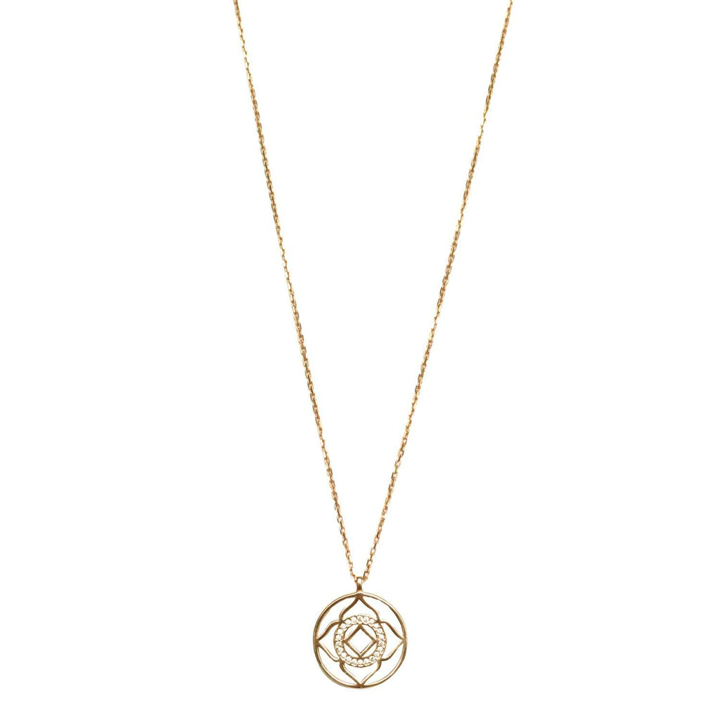 Demi Lotus Necklace Gold