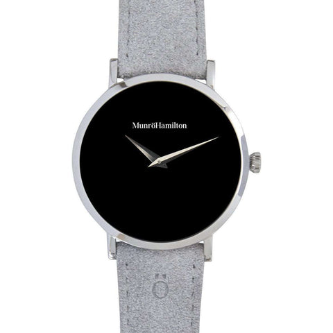 Pacemaker 1 Watch - Black Leather Black Face