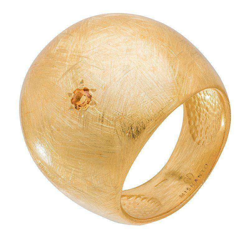 Citrine Veneto Dome Ring