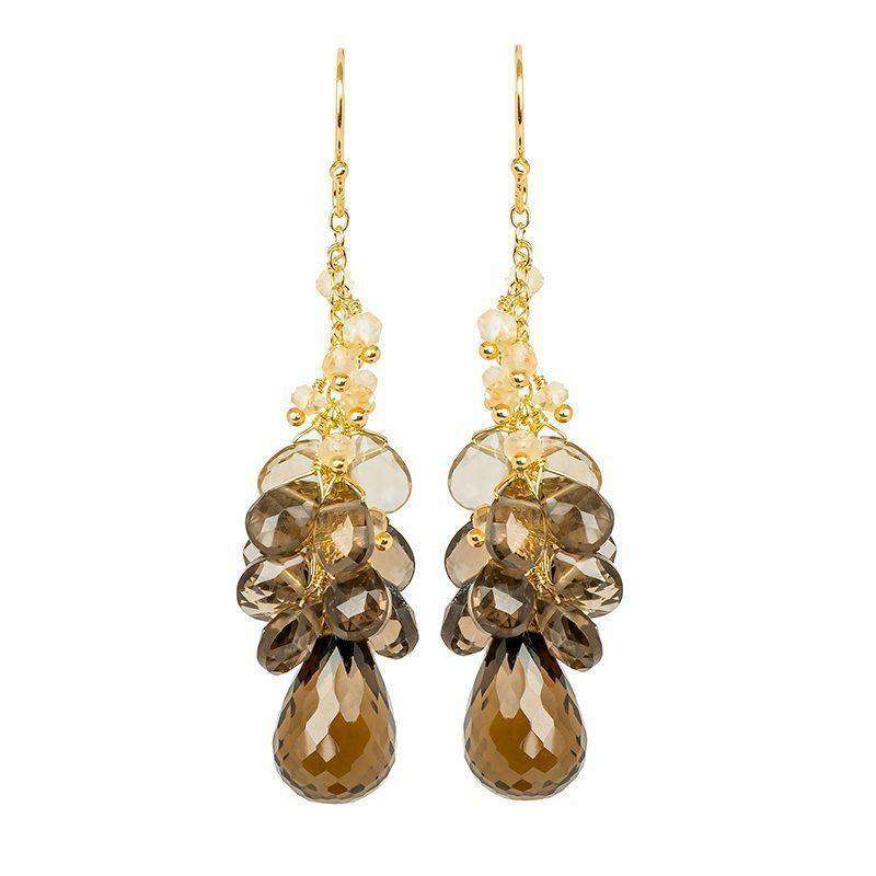 Cari Smoky Quartz Drop Earrings