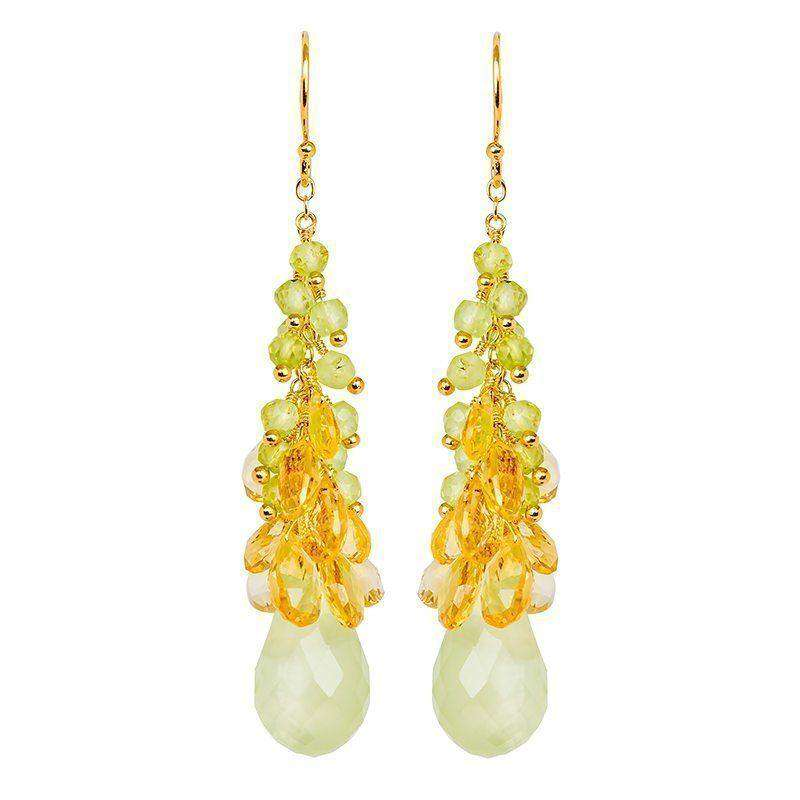 Cari Prehnite Drop Earrings