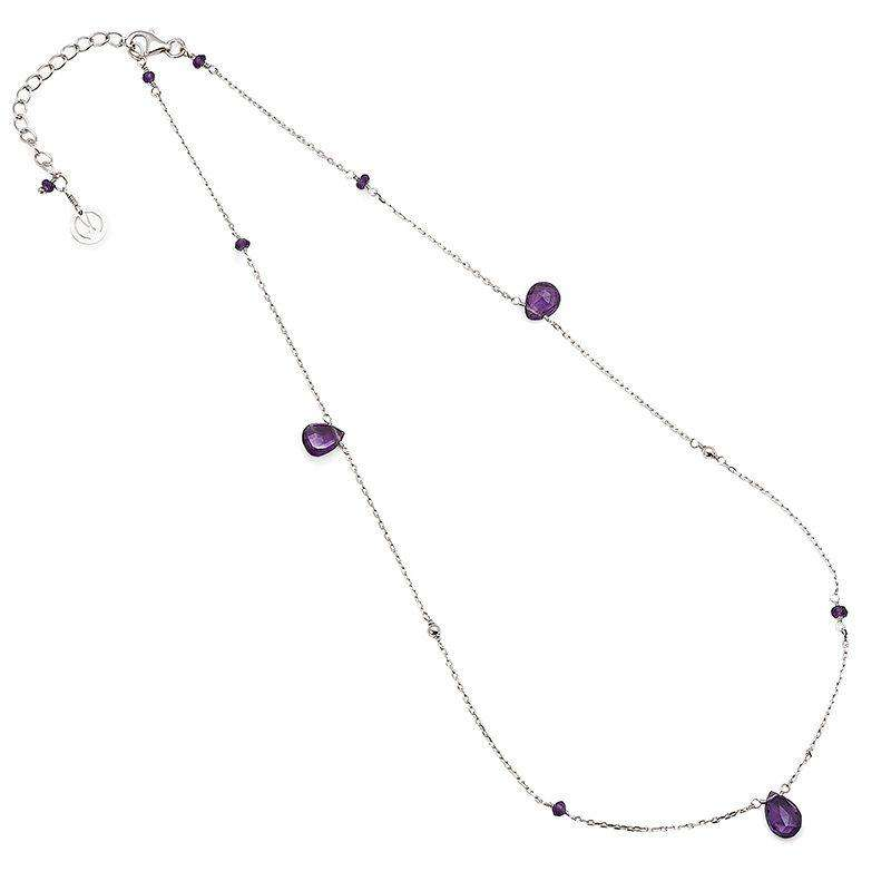 Cari 16-18″ Amethyst Necklace