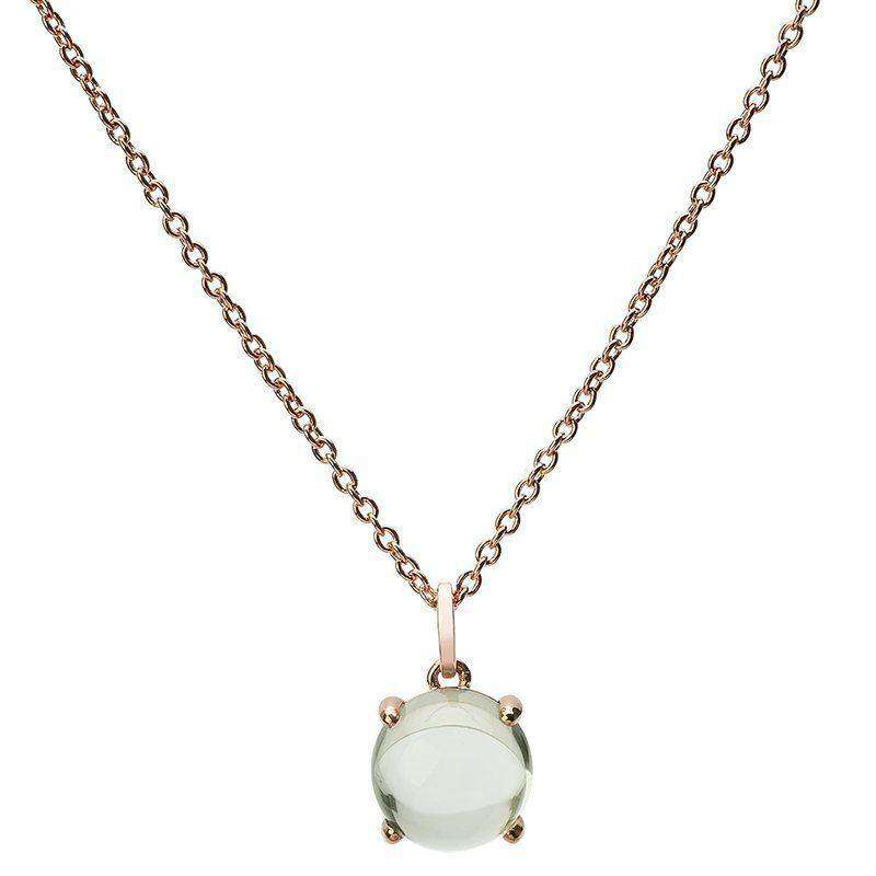 Loris Green Amethyst and Rose Gold Plated 9mm Pendant
