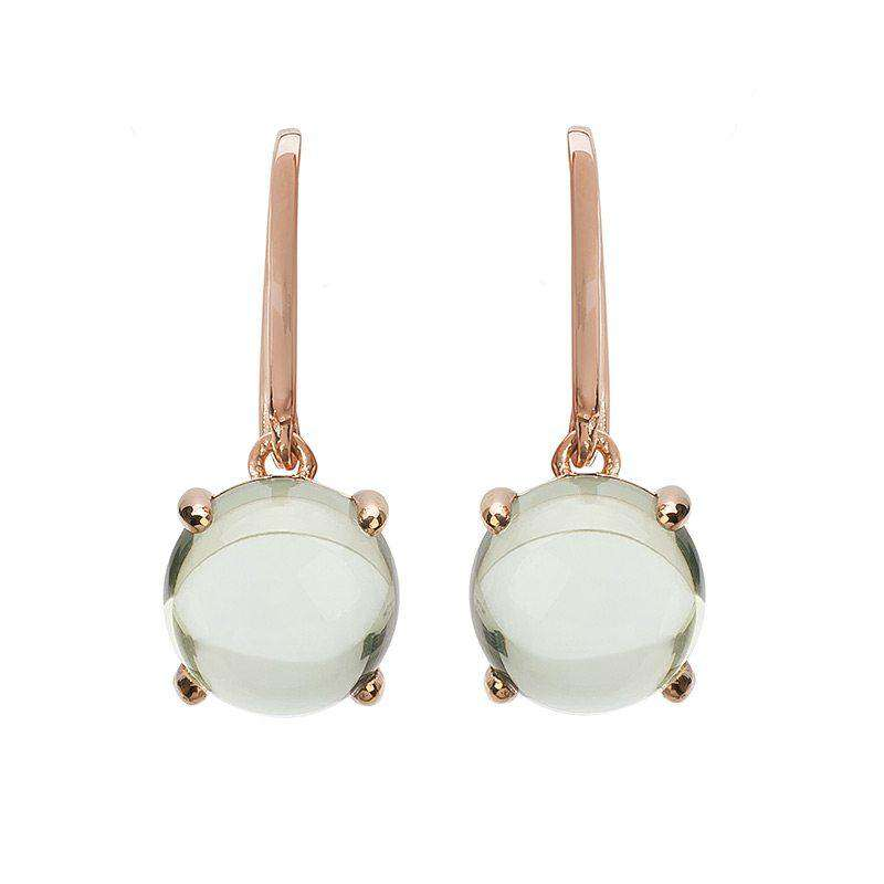 Loris Green Amethyst Claw Set Earrings