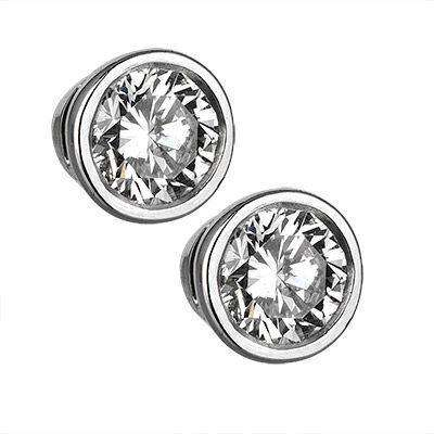 Pair of 18ct White Gold and Diamond Earstuds