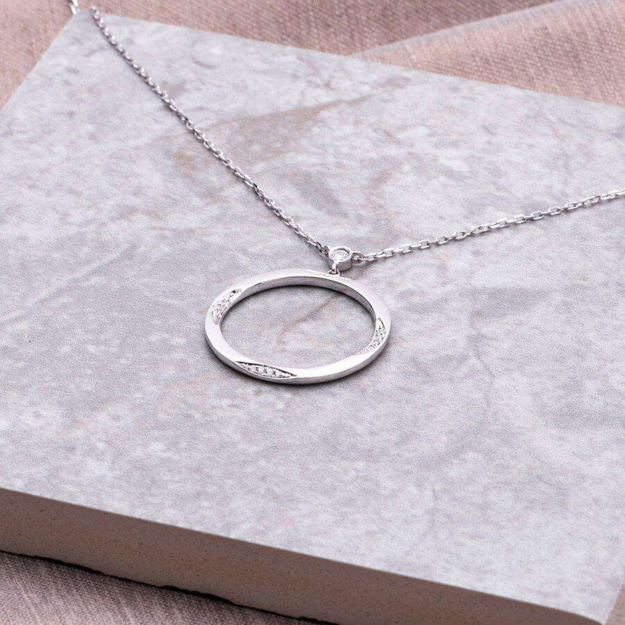18ct white gold and diamond Purity necklace