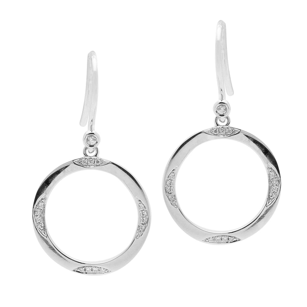 Pair of 18ct White Gold and Diamond Purity Earrings