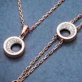 18ct Rose Gold and Diamond Pendant