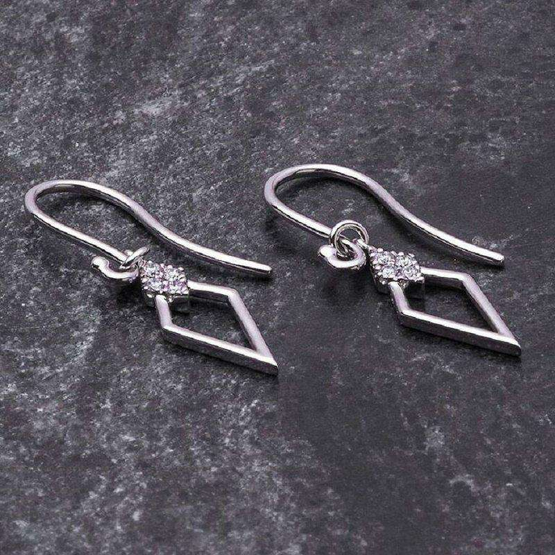 18ct White Gold and Diamond Simply Classic Earrings