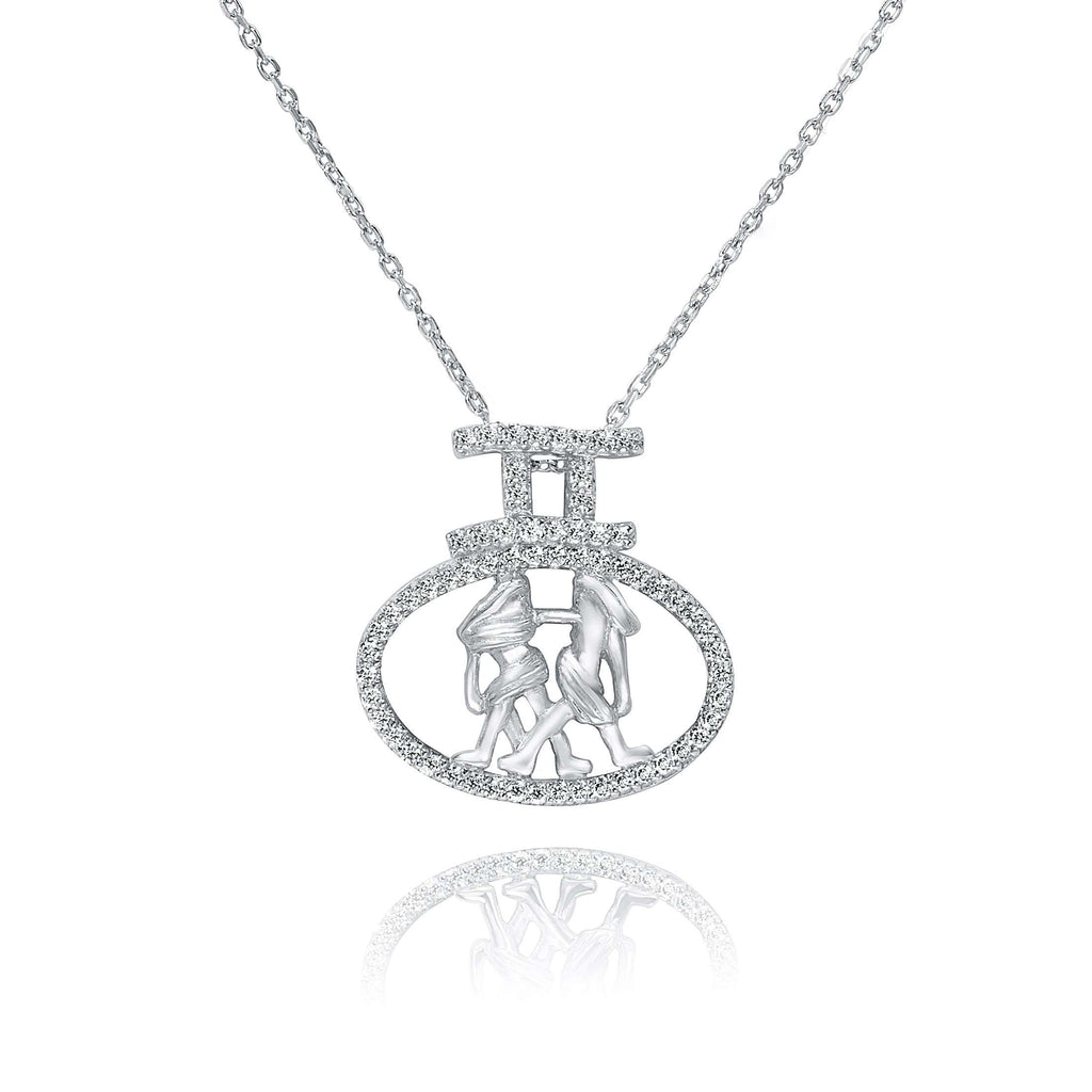 Constellation Gemini Pendant in 925 Sterling Siver
