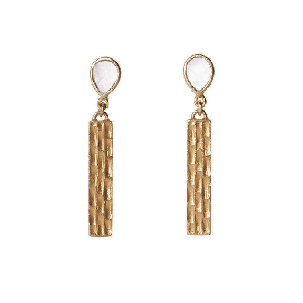 Bar Earrings in Pearl