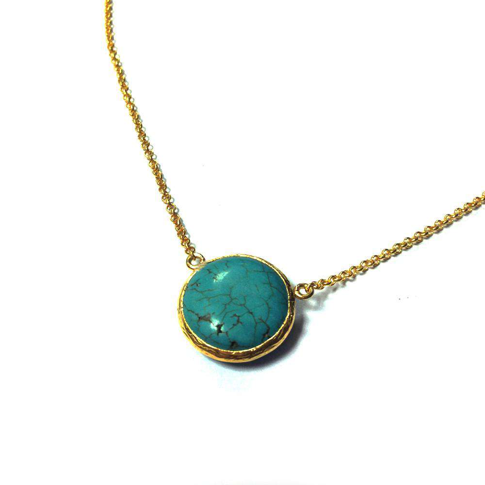 Round Turquoise Necklace - Toosis - THE POMMIER - 2