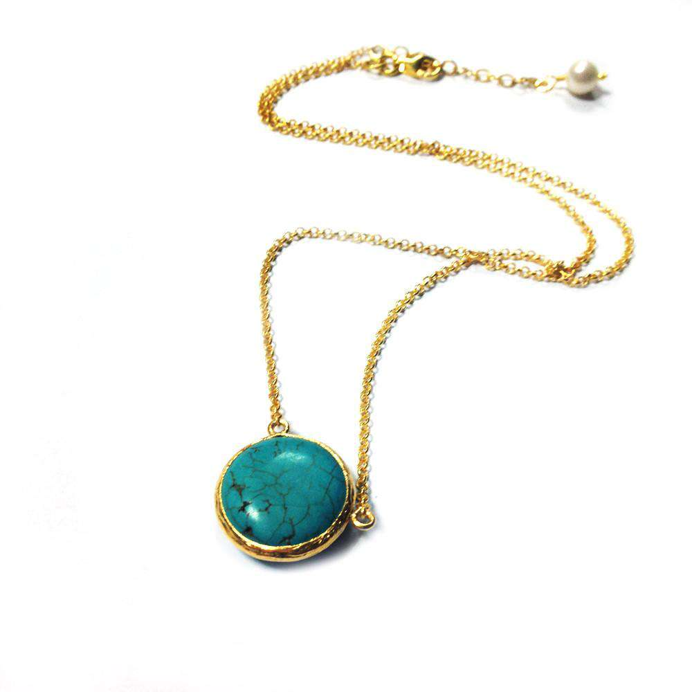 Round Turquoise Necklace - Toosis - THE POMMIER - 3